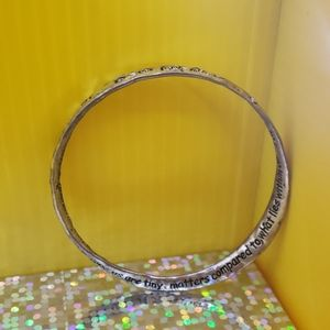 Mobius Ralph W Emerson Inspirational Quote Bangle.